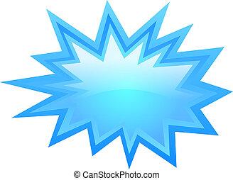 Blue star icon, vector illustration