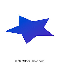 Blue star icon, isometric style