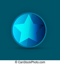 blue star icon on blue