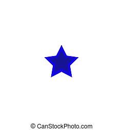 blue star icon on white backround EPS 10