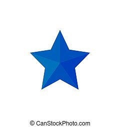 Blue Star icon. Vector illustrations. Flat design.