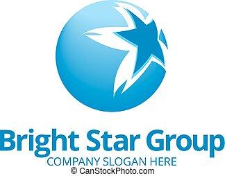 Blue Star Logo Template