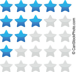 Blue star rating