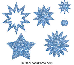 Blue Star Shapes