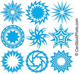 Blue Starbursts - Starburst icons and symbols