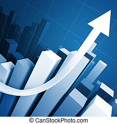 blue stat business background - business growing stat and ...