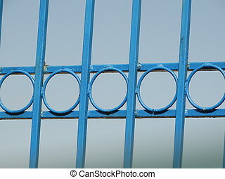 Blue Steel Circles Fence