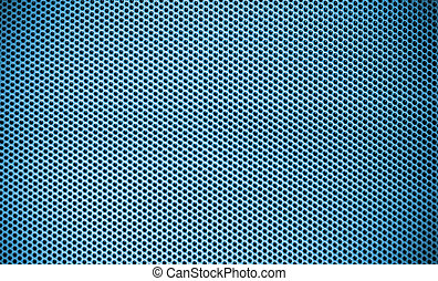 Blue Steel mesh screen background and texture
