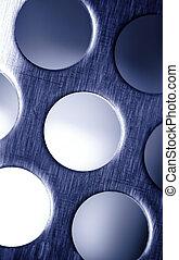 Blue Steel. Metal Lattice background.