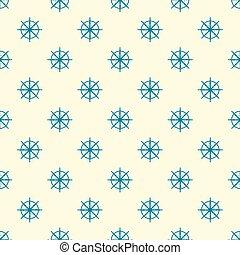 Blue steering wheel pattern vector eps 10  design