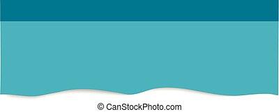 Blue sticker isolated on white background.