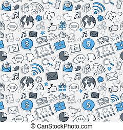 Blue Sticker mobile apps pattern