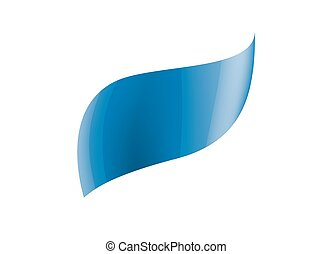 blue sticker on white background. Vector illustration