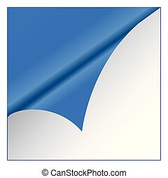 Blue sticker on white background