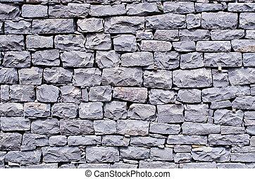 Blue stone wall