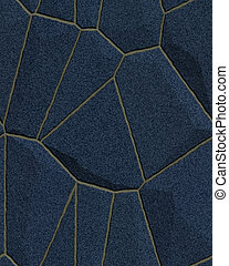 Blue Stone Wall - Stone wall, floor in blue tones