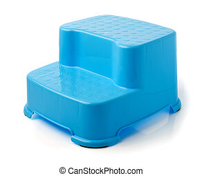 Blue Stool Stand for kids on white background