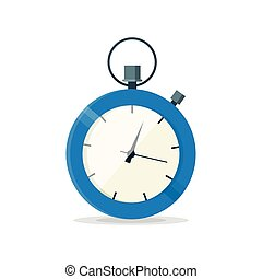 Blue stopwatch clock watch. Vector