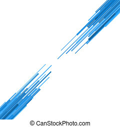 Blue Straight Lines Abstract Background. Vector Illustration
