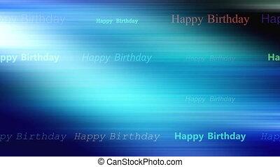 Blue Streaks happy birthday loop