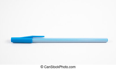 Blue stripe pattern ballpoint pen