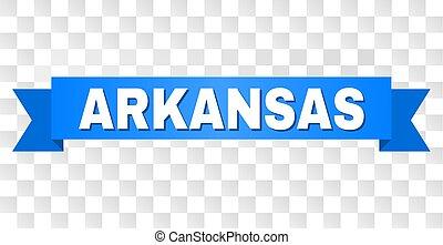 Blue Stripe with ARKANSAS Text
