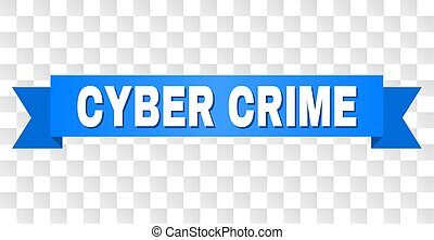 Blue Stripe with CYBER CRIME Text