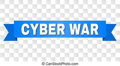 Blue Stripe with CYBER WAR Title