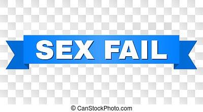 Blue Stripe with FAIL Title - FAIL text on a ribbon....