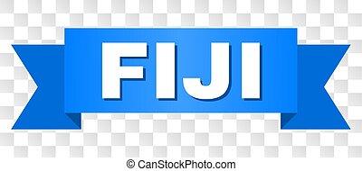 Blue Stripe with FIJI Text