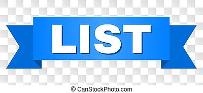 Blue Stripe with LIST Text