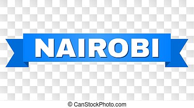 Blue Stripe with NAIROBI Caption - NAIROBI text on a ribbon....