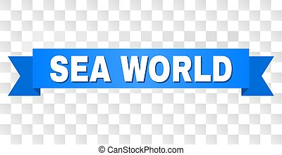 Blue Stripe with SEA WORLD Text