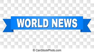 Blue Stripe with WORLD NEWS Caption