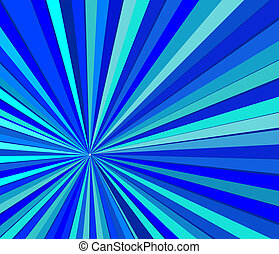 Blue striped background - modern vector background with cold...