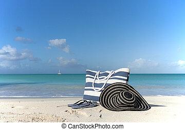 bag on the beach