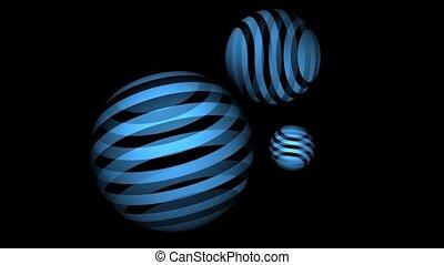 Blue Striped Balls