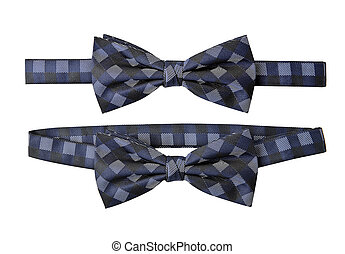 Blue striped bow tie