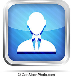 blue striped businessman icon