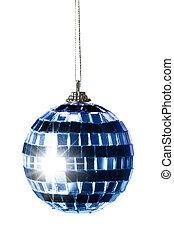 Blue striped Christmas ball
