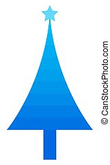 Blue Striped Christmas Tree