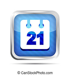 Blue striped date icon on a white background