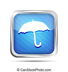 Blue striped forecast icon on a white background