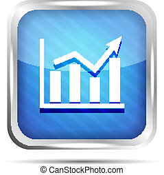 blue striped graph icon on a white
