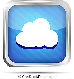 blue striped icon with cloud
