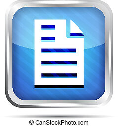 Blue striped page icon on a white