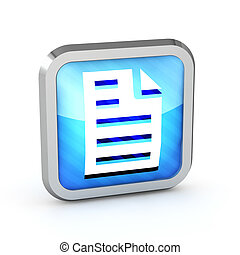 Blue striped page icon on a white background