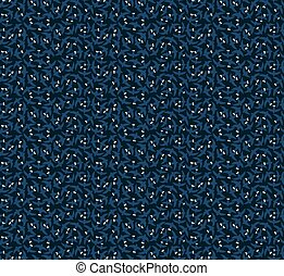 Blue stripes from birds seamless pattern