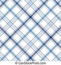 Blue Stripes Plaid - Plaid background pattern in three...