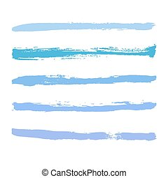 blue strokes of paint